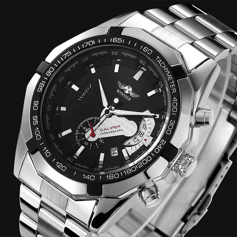 Men Fashion Casual military full steel luxury brand top mechanical wristwatches Automatic self-wind relogios sports watches - TimeCity Store store