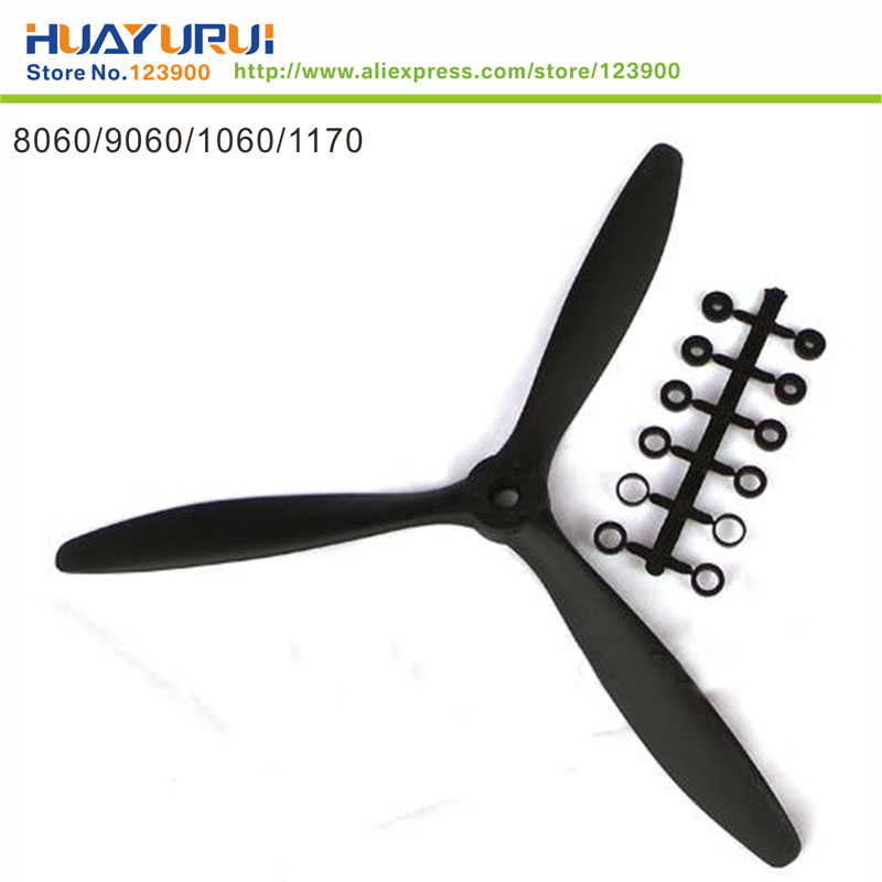 Free shipping 1pcs efficient three-blade propeller 8060,9060,1060,1170 clover electric propeller aircraft parts(China (Mainland))