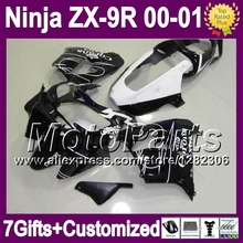 7gifts+Custom KAWASAKI NINJA HOT Black white CORONA ZX9R 00 01 ZX-9R T*1705 9 R ZX 9R 2000 2001 corona 100%NEW Fairin - MotoParts store