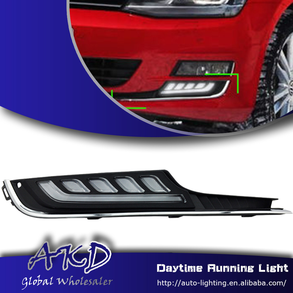 One-Stop Shopping for VW Golf 7 DRL 2013-2014 New Golf7 LED DRL MK7 Daytime Running Light Fog Lamp Automotive Accessories(China (Mainland))