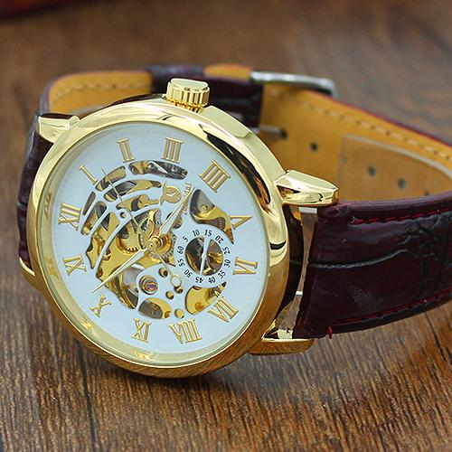 Good Choice Mens Roman Numerals Stainless Steel Wrist Watch Business Leather Wristwatch(China (Mainland))