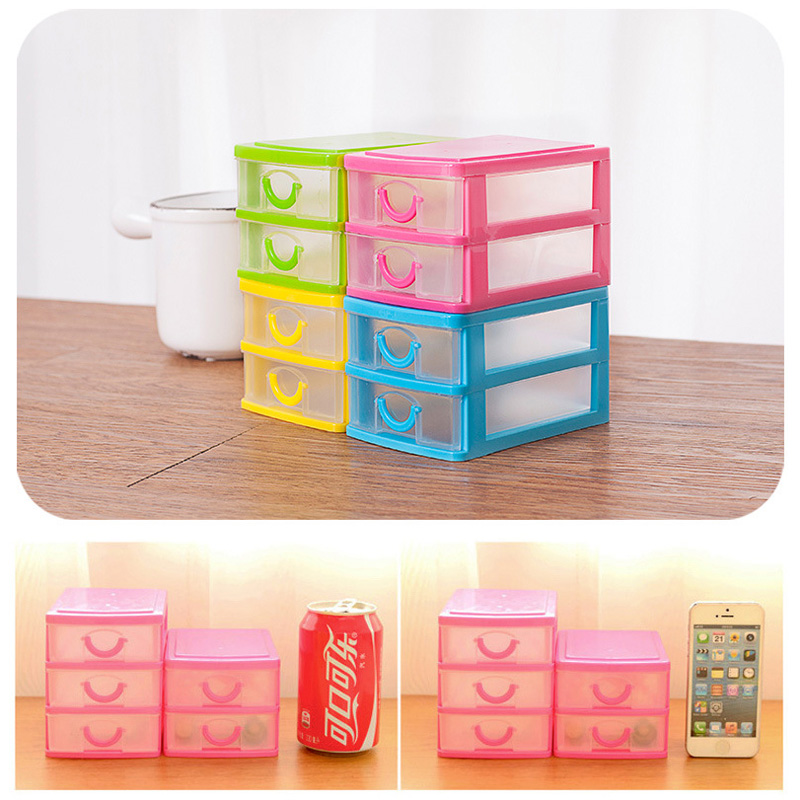 New Office Organizer Makeup Jewelry Earring Ring Drawer Storage Box Mini Home Storage Boxes 4 Colors(China (Mainland))