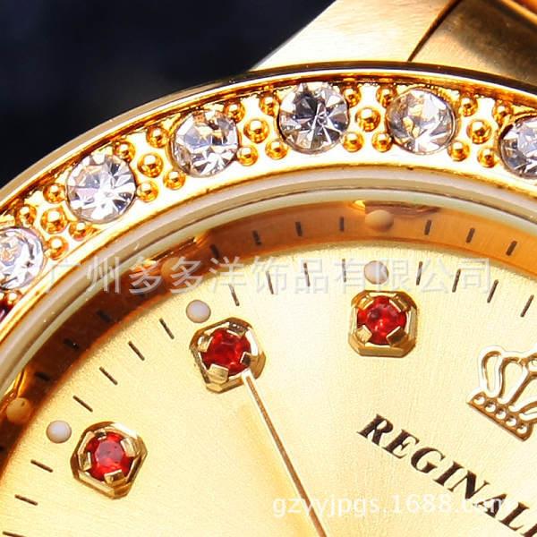 Мода Марка Дамы Платье Часы Золото Полная Сталь Календарь Наручные Часы Famale Кварцевые Часы Женщины Золото Женские Кварцевые Часы