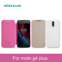 moto g4 plus Case Nillkin sparkle Flip Cover PC hard csae cover motorola pro - Shenzhen Technology Co., Ltd. store