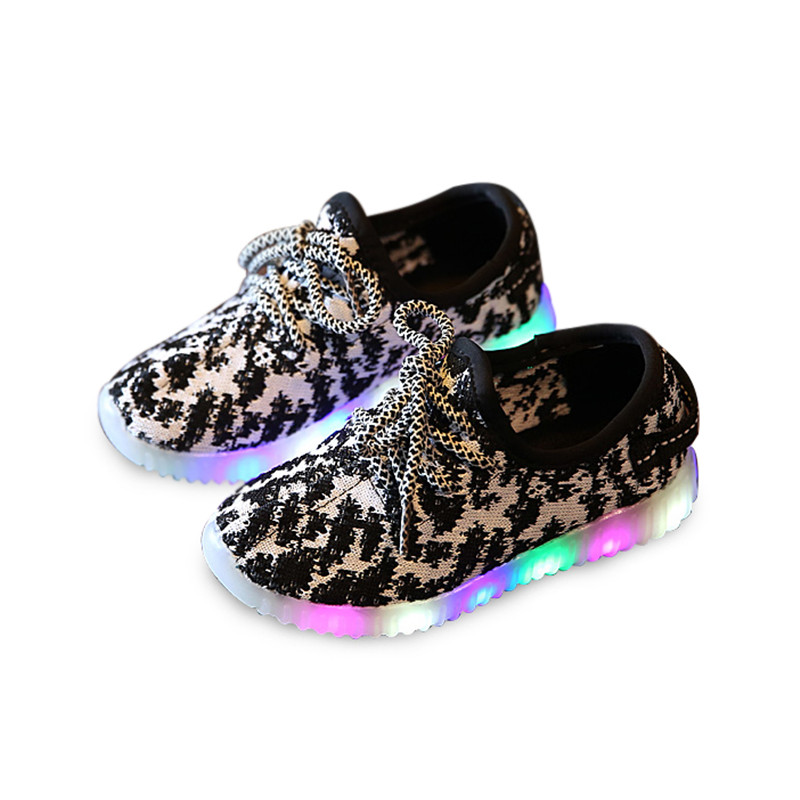 kids shoes with light 2016 autumn baby boys girls shoes chaussure led enfant child fashion breathable boys sneakers EU26-30(China (Mainland))