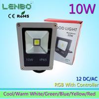 GLW Free shipping 10W AC/DC12V  LED Flood Light Seven Color Waterproof  lamp Outdoor Garden Spotlight LW4