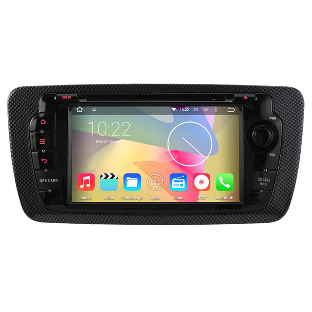 Android 5.1 Car DVD Seat ibiza Android Radio Cortex A9 Quad Core 1024x600 Capacitive Stereo Autoradio Bluetooth Cassette Adapter(China (Mainland))