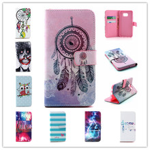 New Arrival Colorful pattern Flip PU Leather Case Magnetic Stand wallet Card Holder Phone Cover For Samsung Galaxy S6 Edge plus
