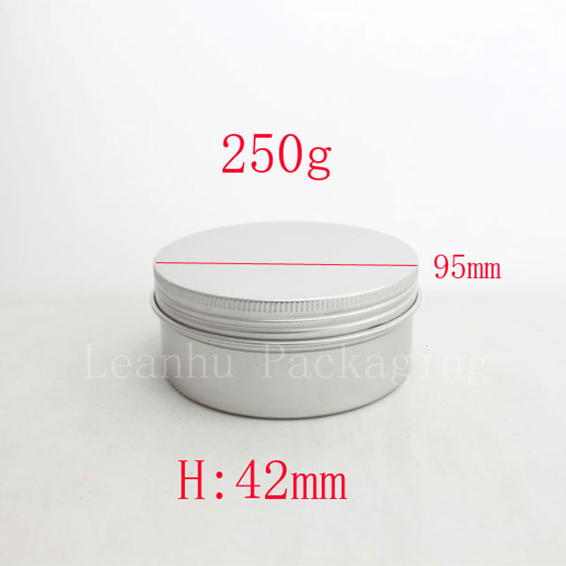 250g empty aluminum metal tin cans with lids ,round aluminum containers ,empty cosmetic containers,metal cream container box(China (Mainland))