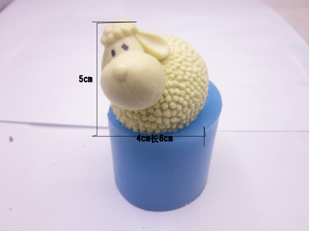 FREE SHIPPING cute little sheep cake silicon mold soap mould cake decoration mold food grade mold(China (Mainland))
