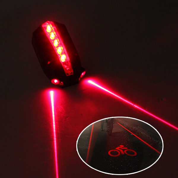 5LED 2 Laser Bicycle Bike Logo Intelligent Rear Tail Light Safety Lamp Super Cool for Owimin Smart Cycling Bike Accessories(China (Mainland))