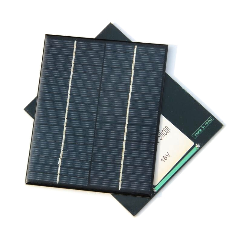 Min Solar Cell 2W 18V Polycrystalline Solar Panel For 12V Battery Charger DIY Solar Module Education Kits 2pcs/lot Free Shipping(China (Mainland))
