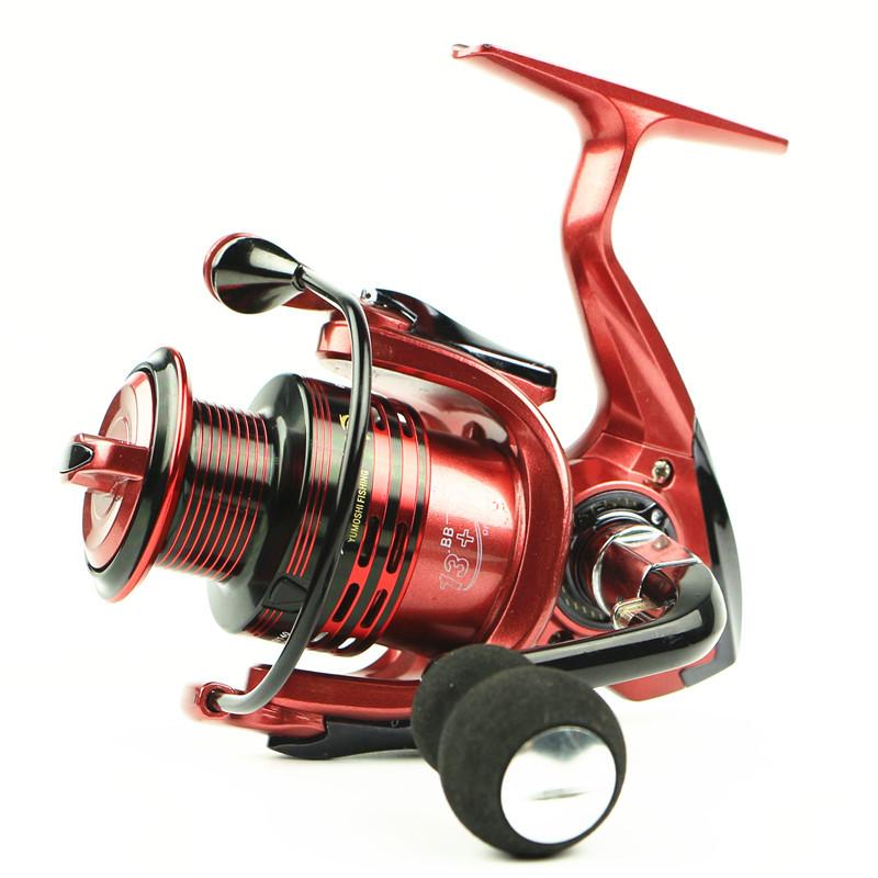 Gapless Metal Spinning Fishing Reel 14BB XF1000-7000 Carretilha Pesca Spinnning Reel Feeder For Carp Fishing(China (Mainland))