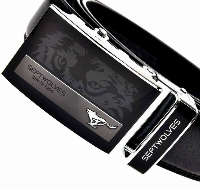 HOT Fashion Brand belt MEN'S Genuine Leather Waist Strap Belts Automatic Buckle Black free shipping