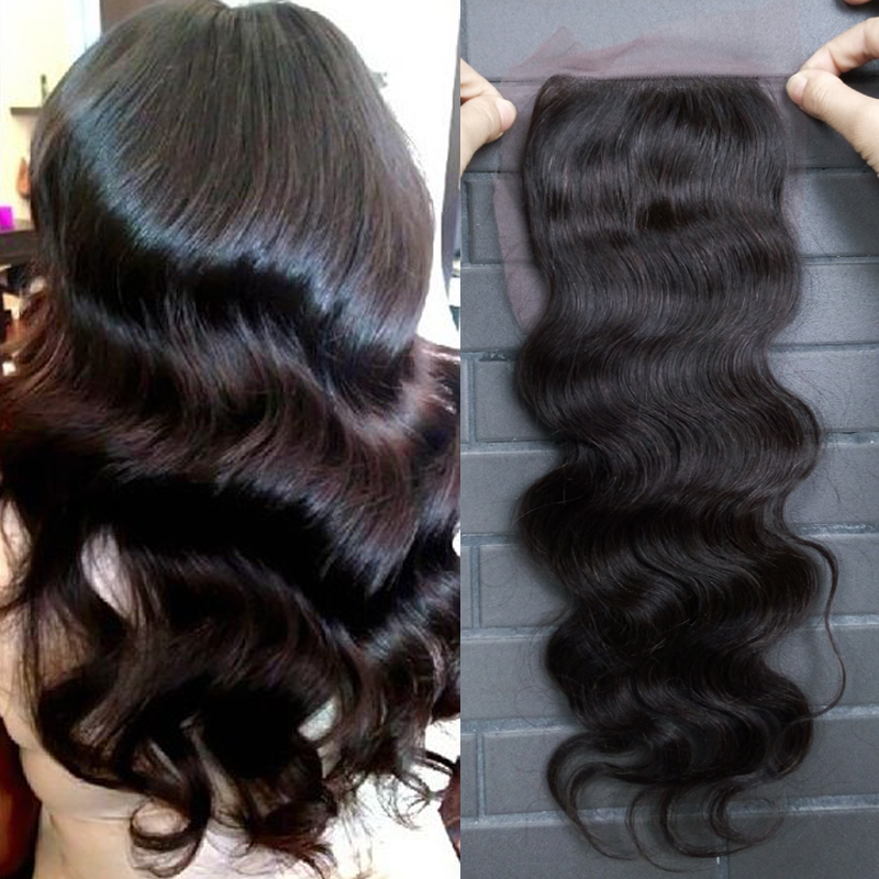 """Bliss New arrival 100% unprocessed hair lace closure free part(4""""x4"""")body wavecan be dyed 10""""12""""14"""" 35g~45g color natural#(China (Mainland))"""