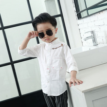 children clothes spring autumn kids shirts cotton embroidered pure color shirt toddler boys shirts kids clothes girls blouse