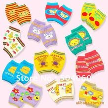 2012 New designer, hot sale, 12pcs/lot, mixed designs, baby's cartoon galaxy striped & fruits style pure cotton knee pads(China (Mainland))
