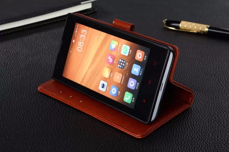 Wallet With Stand PU Leather Case Cover For Xiaomi Redmi 1S Phone Bag For Hongmi