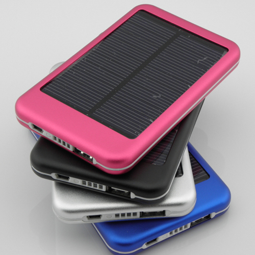 Solar Battery 5000mAh 4 colors Solar Battery Chargers Panel USB Charger, Mobile Phone Solar Charge Power Bank(China (Mainland))