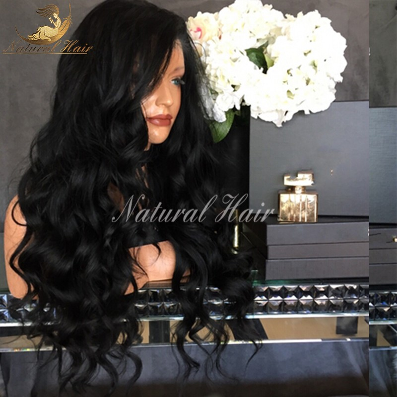 180% density Indian Virgin Hair Wigs Full Lace Human Hair Wigs For Black Women Body Wave Indian Hair Full Lace Front Wigs