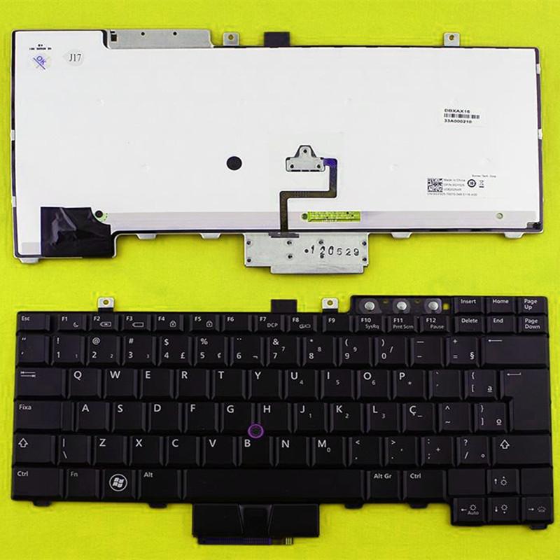 BR Brazil Laptop Replacement keyboard for DELL E6400 E6410 E6500 E6510 M2400 M4400 M4500 BLACK Backlit Cuaderno de teclado(China (Mainland))