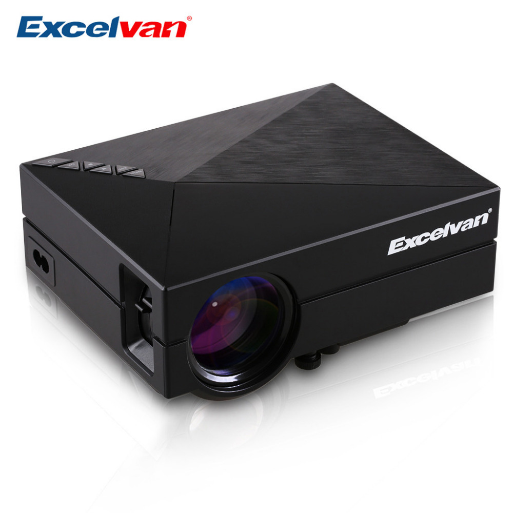 Clearance Excelvan GM60 Multimedia Mini LED Video Projector 800x480 1000 lumens Support 1920x1080 Home Theater Projector(China (Mainland))
