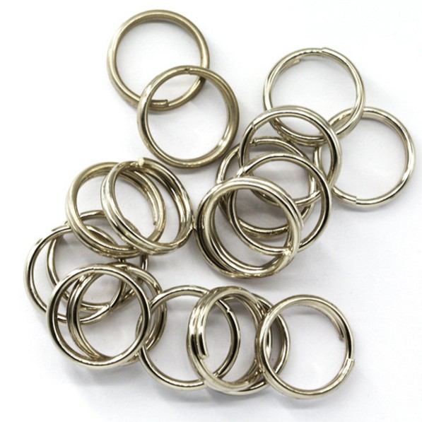 100Pcs Stainless Steel Split Rings for Blank Lures Crank bait Hard Bait carp Fishing Tools Double Loop 6mm 7mm 8mm(China (Mainland))