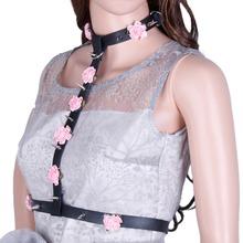 Harness pastel goth belts womens wide leather cummerbunds belt  for women Sexy Brand new leather harness belts(China (Mainland))
