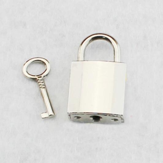 Purse Adornment Silver Mini Zinc Alloy Metal Padlock Bag Closure Locks with Key Bag Accessories G0105(China (Mainland))