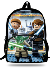 16-Inch Popular School Bag Cartoon Backpacks Child Star Wars Backpack For Kids Boys Star Wars Bag For Girls Teenagers Bags(China (Mainland))