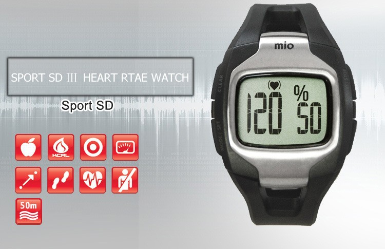 Mio SPORT SD 3 touch measure heart rate without chest belt sport running/pacer/calorie comsumption/ smart wristwatch watch