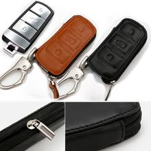 Genuine Leather Car Key Covers Volkswagen VW r CC Passat B6 B7 Maogotan R36 B7L 012 - AUTO mechanist store