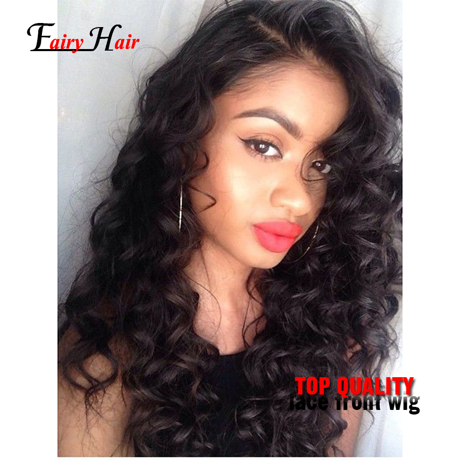Cheap Sale 180% Density Syntetic Hair Deep Curly Wigs Black Wig Synthetic Lace Front Wigs Long Wig For Black Women Free Wig Cap<br><br>Aliexpress