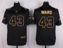The 50 anniversary black gold men Elite Denver Broncos 30 Terrell Davis 21 Aqib Talib 25 Chris Harris Jr 27 atwater(China (Mainland))