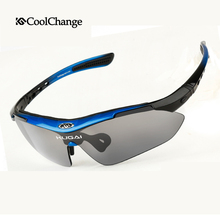 CoolChange Professional Polarized Cycling Glasses Bike Goggles Outdoor Sports Bicycle Sunglasses With 6 Lens Myopia Frame(China (Mainland))