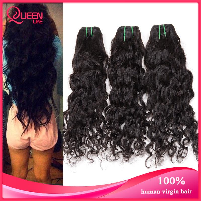 Cheap Ms Lula Peruvian Virgin Hair Natural Wave 4 pcs Peruvian Water Wave,Wet and Wavy Virgin Hair Raw Unprocessed Loose Curly(China (Mainland))