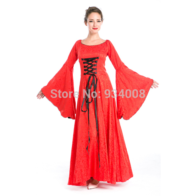 High Quality European Red Bridal Wedding Dress Princess Dress Red Party Costume In Clothing