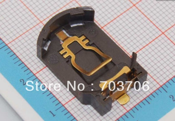 3V CR2032 Battery  Holder with gold SMD