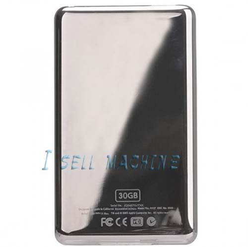100% High Quality For iPod Video 30GB Rear Panel Back Cover Free Shipping(China (Mainland))
