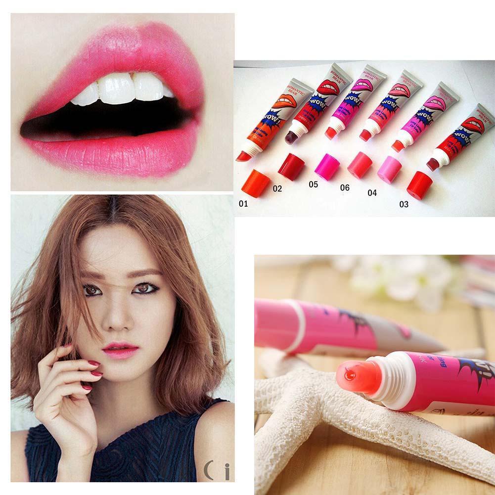 6Pcs Tattoo Magic Color Peel Off Mask Tint Long Lasting Waterproof Lip Gloss tinted lip moisturizer long lasting gloss(China (Mainland))