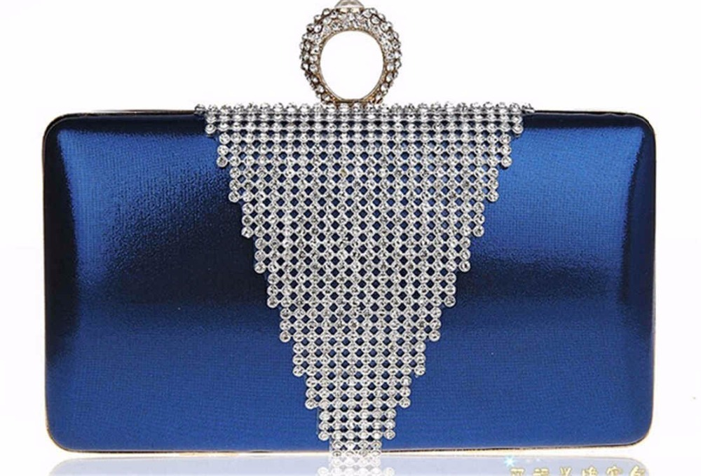Ladies Clutch Purse Gold Chain Evening Bag Luxury Bling Rhinestone Bridal Wedding Dinner Shoulder Bag Purple bolsas mujer XA623C(China (Mainland))