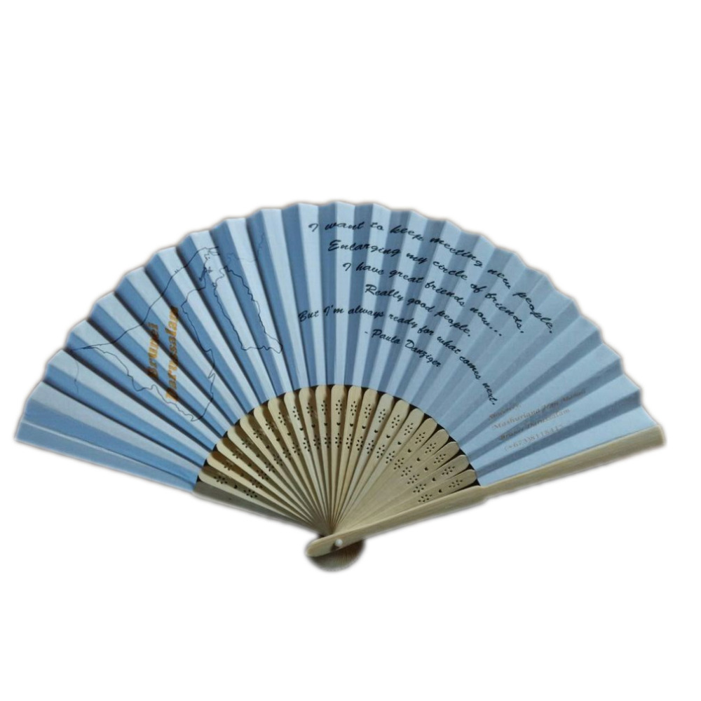 50Pcs Free Shipping Personalized Wedding Paper Fan Printing Logo On Paper Directly abanicos para boda Party Festival Favors(China (Mainland))
