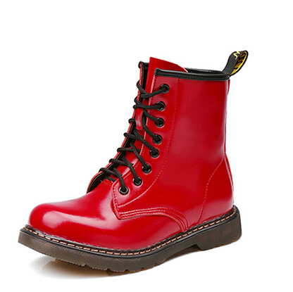 NEW 2016 British style Women Martin boots Genuine Leather Motorcycle boots Cow Muscle Autumn Winter shoes Ankle boots 1/4(China (Mainland))