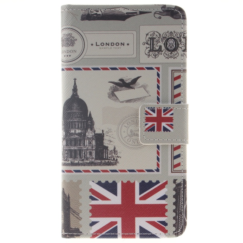 J5 Mobile Phone Bag Leather Wallet Flip Case for Samsung Galaxy J5 (2016) Phone Cases- UK Flag(China (Mainland))