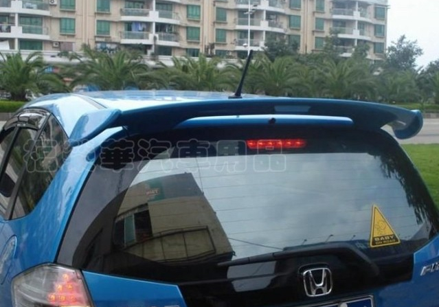 ABS Spoiler Wing for Honda Fit 2008 2009 2010 2011 2012 (hatchback) Primer Unpainted(China (Mainland))