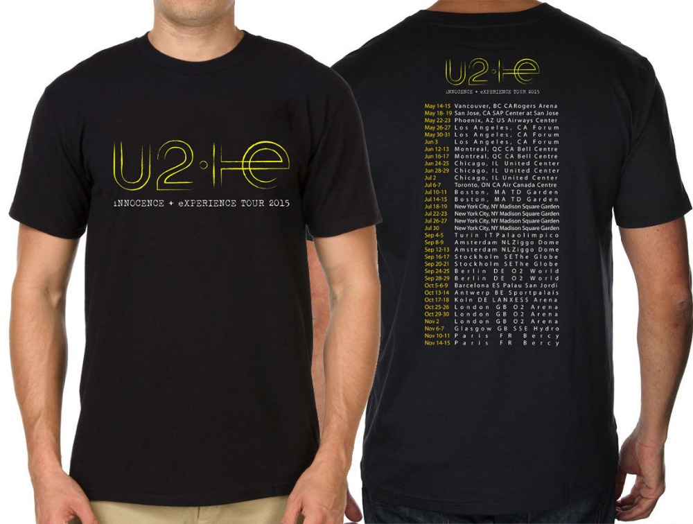 music t shirt 2015 world tour u2 innocence and experience. Black Bedroom Furniture Sets. Home Design Ideas