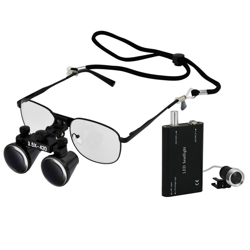 3.5X magnification replaceable shortsighted glasses metal frame dental surgical loupes dentist operation magnifier<br><br>Aliexpress