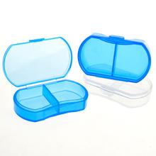1 Piece Portable Mini Cute Plastic Pill Box Medicine Case For Healthy Care Empty Secret Stash WithTemporary Storage(China (Mainland))
