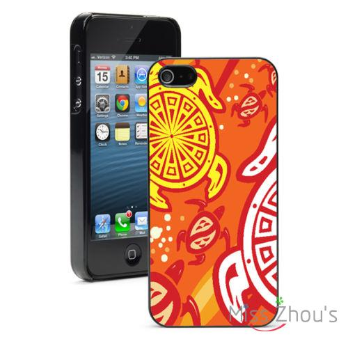 Orange Sea Turtles Protector back skins mobile font b cellphone b font cases for iphone 4