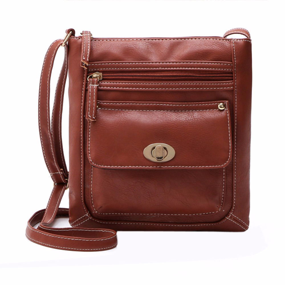 New Promotion Women PU Leather Vintage Messenger Bags Hobo Tote Satchel Female Famous Designer Crossbody Bag(China (Mainland))